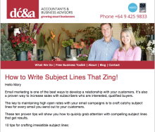 How to Write Email Subject Lines That Zing - Dennis Curin Blog